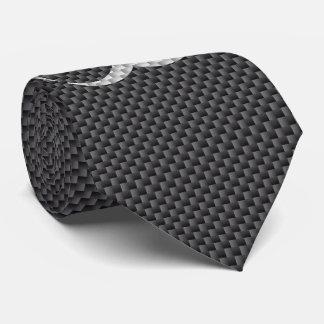Black White & Grey Toxic Carbon Fiber Tie