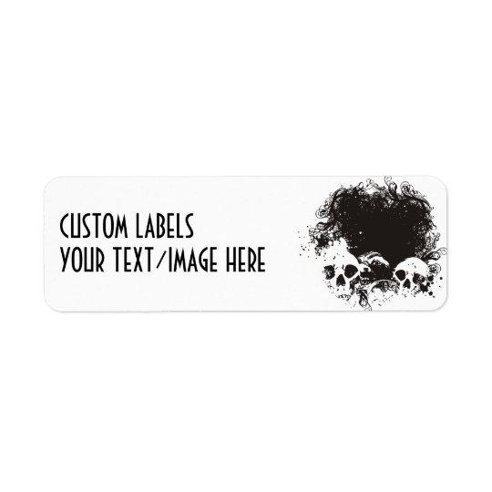 Black & White Grunge Skulls Illustration