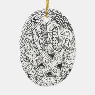 Black White Hand Ornament