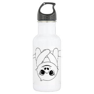 Black&white hanging sloth 532 ml water bottle