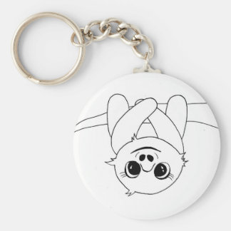 Black&white hanging sloth key ring