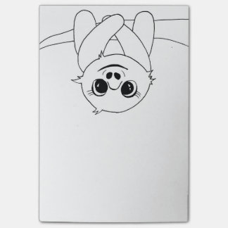 Black&white hanging sloth post-it notes