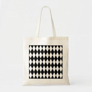 Black White Harlequin Pattern Bags