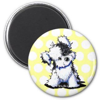 Black & White Havanese 6 Cm Round Magnet