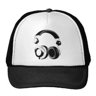 Black & White Headphone Artwork Cap