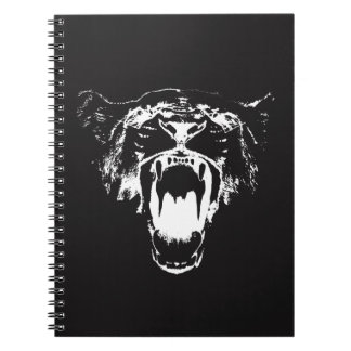 Black & White Hear My Roar! - Notebook