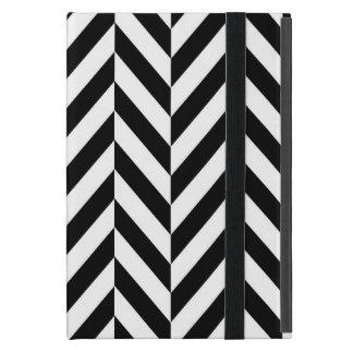Black & White Herringbone Design, iPad Mini Case