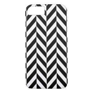 Black & White Herringbone Design iPhone 7 Case