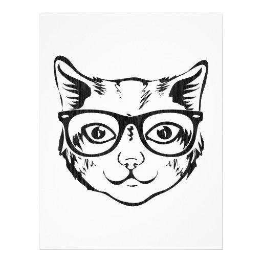 Black White Hipster Cat Flyer