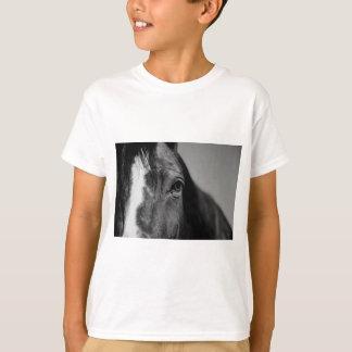 Black White Horse Eye Artwork T-Shirt