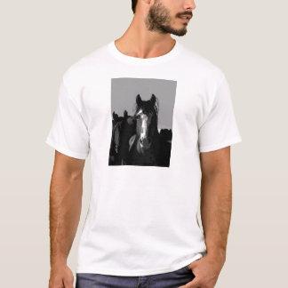 Black & White Horse Portrait T-Shirt