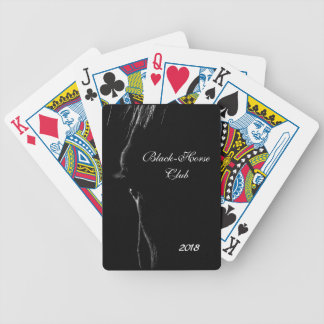 Black & White Horse Silhouette Bicycle Playing Cards