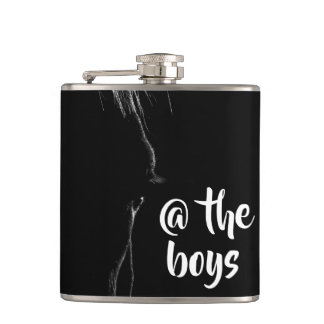 Black & White Horse Silhouette Hip Flask
