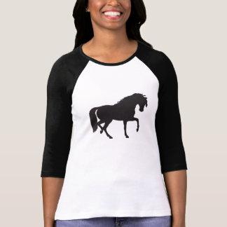 Black White Horse Silhouette Shirts