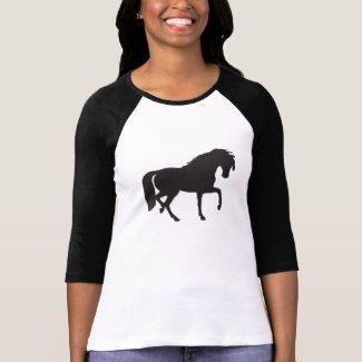 Black & White Horse Silhouette T-Shirt