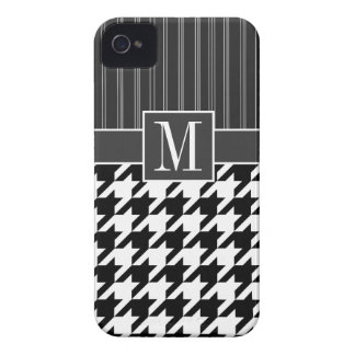 Black & White Houndstooth Case-Mate iPhone 4 Cases