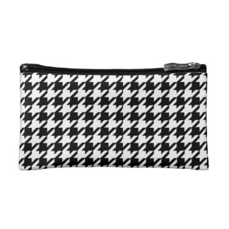 Black & White Houndstooth Cosmetic Bag