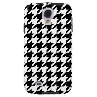 Black & White Houndstooth Galaxy S4 Case