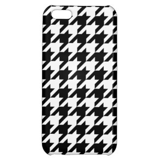 Black & White Houndstooth iPhone 5C Covers