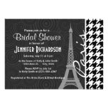 Black & White Houndstooth; Paris Custom Invitations