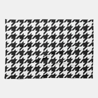 Black & White Houndstooth Pattern Tea Towel