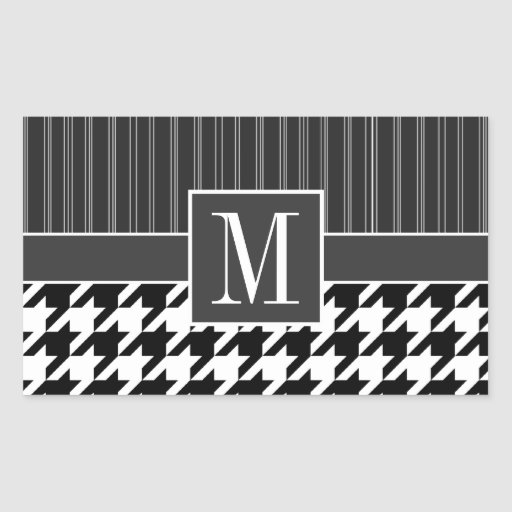 Black & White Houndstooth Stickers
