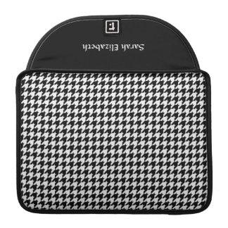 Black/White Houndstooth Stylish Fashion Designer Sleeve For MacBooks