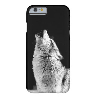 Black & White Howling Wolf iPhone 6 Case