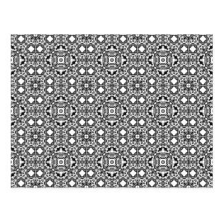 Black & White Hypnotic Background Postcard