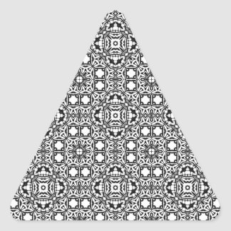 Black & White Hypnotic Background Triangle Sticker