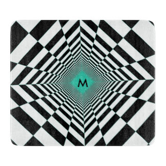 Black White Illusion Cutting Board