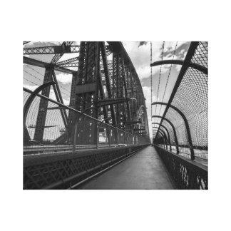 Black & White image of the Sydney Harbour Bridge. Canvas Print