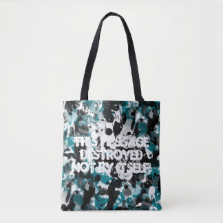 Black & White INK SPLASHES seamless pattern Tote Bag