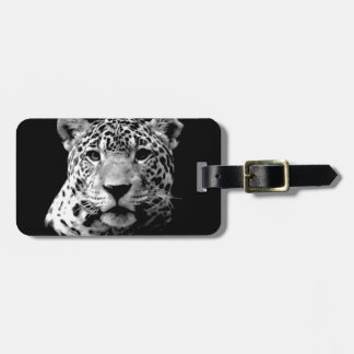 Black & White Jaguar Luggage Tag