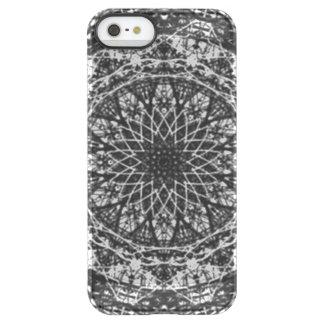 black white kaleidoscope pattern permafrost® iPhone SE/5/5s case