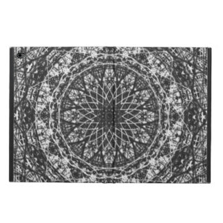 black white kaleidoscope pattern powis iPad air 2 case