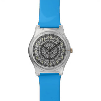 Black White Kaleidoscope pattern Watch
