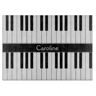 Black White Keyboard Cutting Board