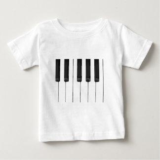 Black White Keys Music Keyboard Baby T-Shirt