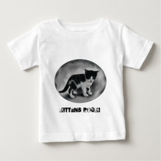 Black & White Kitten Baby T-Shirt