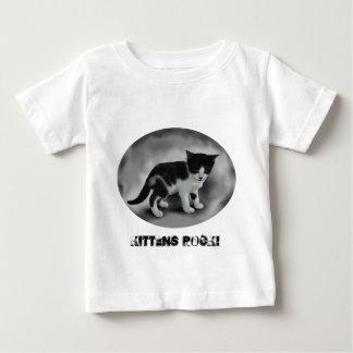 Black & White Kitten Baby T-Shirt