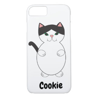 Black White Kitty Cat Personalise iPhone 8/7 Case