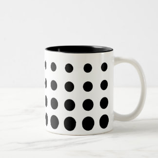 Black & White l Vector abstract dot Two-Tone Coffee Mug