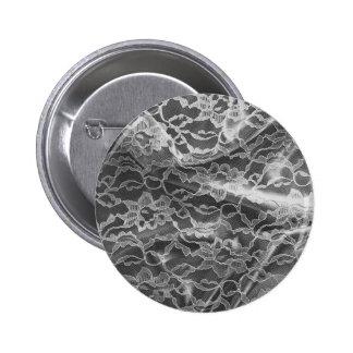 Black&White Lace 6 Cm Round Badge