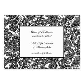 Black & White Lace RSVP & Gift Registry pack set Business Card Templates
