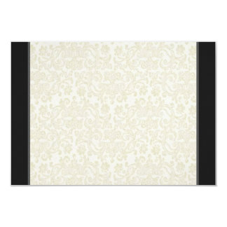 Black & White Lace RSVP Note Card 9 Cm X 13 Cm Invitation Card
