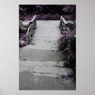 Black & White Landscape Bridge Photo Poster