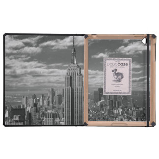 Black & White landscape of New York City skyline Cases For iPad