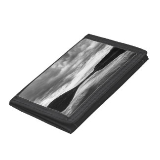 Black & White landscape reflected in a lake Trifold Wallet