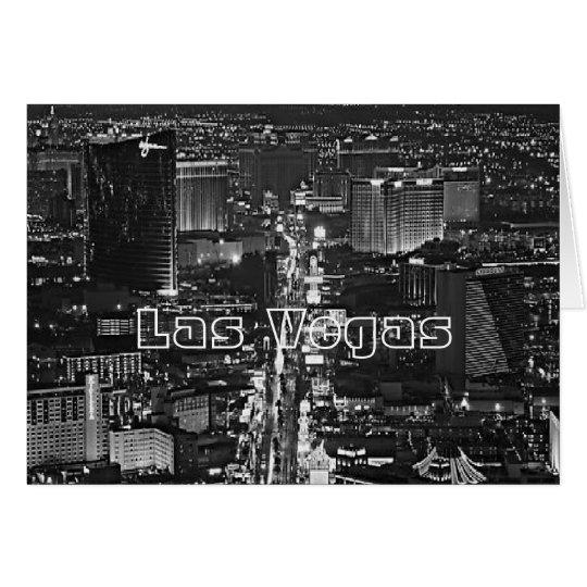 Black & White Las Vegas Card